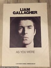 LIAM GALLAGHER - AS YOU WERE PROMO POSTER (for LP / CD /noel white vinyl oasis)