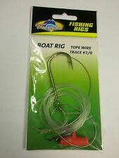 New listing Tsunami 5 x Tope Wire Trace sea rigs 7/0 hook Fishing tackle
