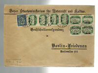 1922 Bavaria Germany Official Cover to Berlin