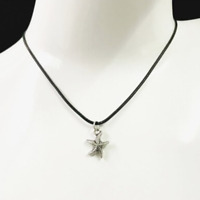 Starfish Necklace Black Rope Chain & Star Fish Pendant Womens Mens Jewellery