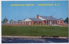THOMASVILLE NC Recreation Center City Memorial Park z postcard