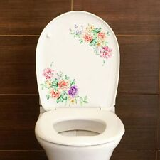 Decoration Removable PVC Fridge Decals 1 Pair Peony Toilet Decor Wall Stickers