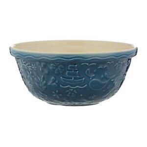 Mason Cash Nautical Chip Resistant Cooking Baking Kitchen Mixing Bowl Blue 29cm