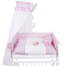 Baby-Bettset mit Stickerei für Beistellbett Bettwäsche Himmel Nestchen Teddy