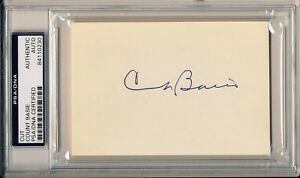 COUNT BASIE Single Signed Album Page Cut Slabbed Jazz Pianist 9x Grammy PSA/DNA