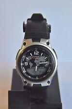 Casio AW-80 Mens' World Time Digital/Analogue Black Strap Watch   ~AB+160