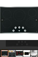 """Ge Profile 30"""" Built-In Knob Control Electric Cooktop Pp7030Sj1Ss"""