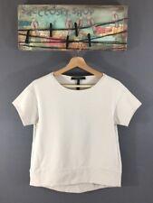 BCBGMAXAZRIA Tian Ponte T-shirt Round Neck Short Sleeve Sz XXS