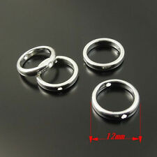 33468 Silver Tone Alloy Round Bead Frame Jewelry Finding 12mm Hot Sale 50pcs