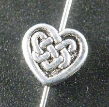 150pcs Tibetan Silver Nice Heart Spacer Beads 7.5x7mm 8908