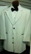 """"""" Zoot Suit """"- white stripes Jacket (only) size 39"""" Chest"""