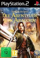 Playstation 2 ABENTEUER VON ARAGORN Herr der Ringe NEU