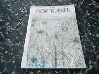 MARCH 19 1960 vintage NEW YORKER magazine RIDING HORSE THRU FOREST