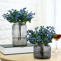 Artificial Blueberries Fake Mini Berries Flower Fruit Plants Home Table Decor