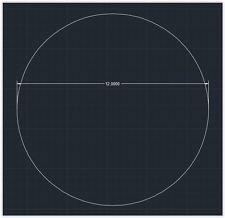 "1pc Acrylic Plastic (plexiglass) Round Sheet - 1/4"" x 12"" Circle - Clear"