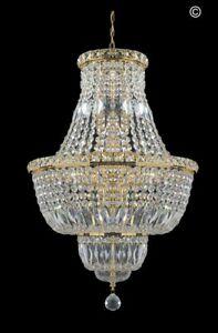 Empress Crystal Basket Chandelier - GOLD 12 Light