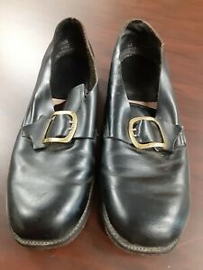 PAIR OF MEN'S LEATHER COLONIAL SHOES SIZE 12 D