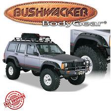 """Bushwacker Black 6"""" Cut-Out Fender Flare 4pc Set 1984-1996 Jeep Cherokee XJ 4Dr"""