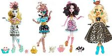 Monster High Shriek Wrecked Set- Dayna Lagoona Rochelle Draculaura Shriekwrecked