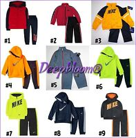 NIKE OUTFIT SET JACKET & LONG PANTS FLEECE TRACKSUIT BOYS HOODIE TODDLER NEW