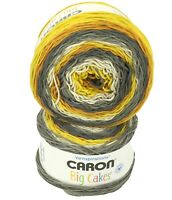 2 CARON BIG CAKES in HONEY GLAZED Acrylic Yarn Skein 603yds/551m 10.5oz/300g Lot