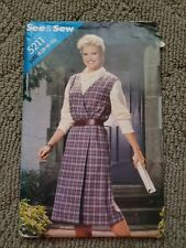 Pattern Butterick Sewing 5211 Ladies Misses Jumper SEE & SEW Size A (8-10-12)