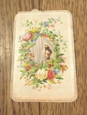 More details for antique new year  greeting card hand mechanical pull tab  girl behind  curtains