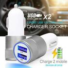 2 Port Car Charger Dual Twin USB Cigarette Socket Lighter Adapter Samsung iPhone