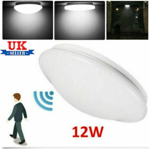 12W Radar PIR Motion Sensor Living Room Bathroom Porch LED Ceiling Light Cool