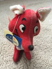 """VINTAGE DREAM PETS RED FOX W/TAG 7 1/2"""" GOOD COLLECTIBLE STUFFED ANIMAL JAPAN"""