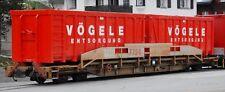 Bemo H0m 2290 124 / 2290124 Schmalspur Tragwagen Sl7754 RhB Ladegut 2 Arollmulde