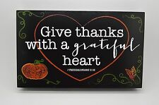 Give Thanks w/ A Grateful Heart Rustic Wood Sign Hanging Wall Art Picture #275