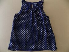 Nautica girls navy sleeveless top. size 10