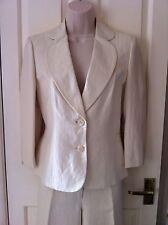 Precis Petite Cream Linen 2 Piece Trouser Suit - Size 8 Jkt / Size 10 Trs -BNWOT