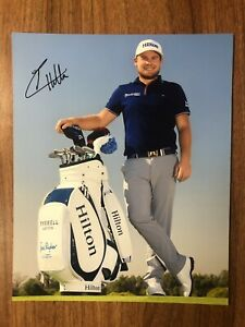 TYRRELL HATTON GOLF MASTERS THE OPEN HAND SIGNED AUTHENTIC 8x10 PHOTO COA