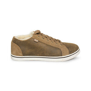 UGG ROXFORD TWIN FACE BOMBER JACKET CHESTNUT SNEAKERS MEN`S SHOES SIZE US 10.5