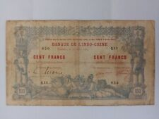1914 NEW CALEDONIA NOUMEA 100 Francs Banknote by Banque de L'indochine very rare