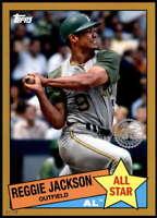 Reggie Jackson 2020 Topps 1985 35th Anniversary All-Stars 5x7 Gold #85AS-5 /10 A