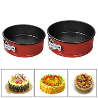 7/10 Inch Non-stick Springform Pan Round Cake Pan with Removable Bottom Red Hot
