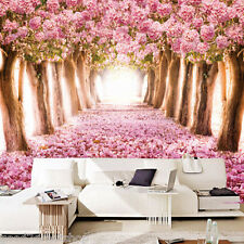 Decor Wallpaper 3D Romantic Cherry Blossoms Large Blackground Murals Pink Floral