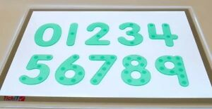 Silishapes Dot Numbers Green Silicone Counting Numeracy Educational Kids