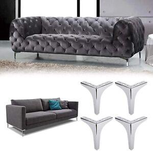 "7"" Furniture Legs, Metal Sofa Legs, Replacement Heavy Duty Furniture Feet, 4PCS"