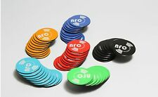 6 X Magnetic NFC Tags NTAG213 Coloured Removable Samsung Android Nokia Winows