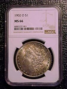 1902-O Morgan Dollar NGC MS 66 ***BEAUTIFUL COLOR***