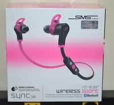 SMS Audio SYNC by 50 Sport Wireless In-Ear Headphones PINK & BLACK New Sealed