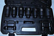 "12 Pcs CV Joint Axle Svc KIT27-36MM 1/2""Dr socket 8-17MM key Steelman Pro 78720"