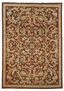 8X12 Antique European Savonerrie Hand-Knotted Carpet, circa 1900 (8.3 x 11.11)