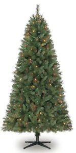 Christmas Tree Best Choice Products 7ft Pre-lit Fiber Optic Artificial 280 UL
