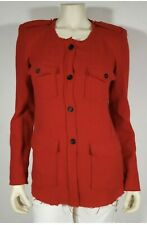 ISABEL MARANT Red Wool Military Jacket - size 40