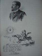 Gravure Portrait de Ulpiano CHECA 1903